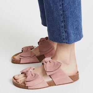 Jeffrey Campbell Lanai Bow Slides Suede Sandals 39